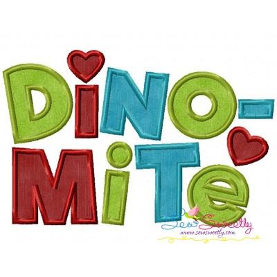 Dinomite Applique Design