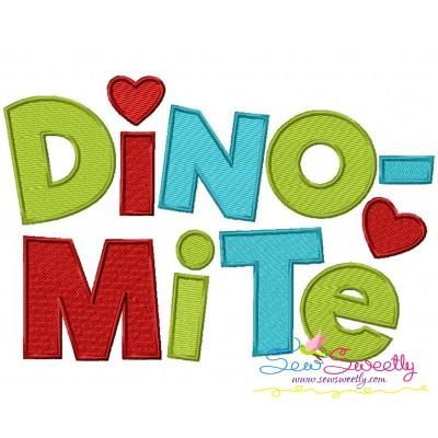 Dinomite Embroidery Design