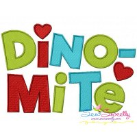Dinomite Embroidery Design