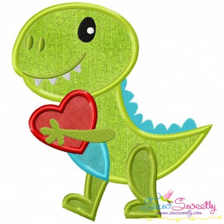 Dinosaur Heart Applique Design