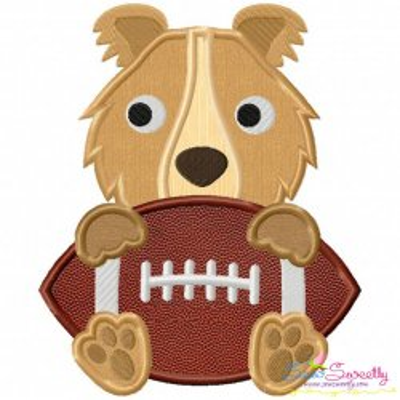 Football Collie Mascot Applique Design