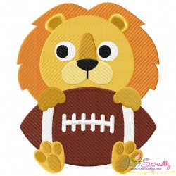 Football Lion Mascot Embroidery Design