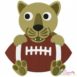 Football Panther Mascot Embroidery Design