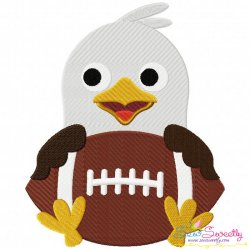 Football Eagle Mascot Embroidery Design