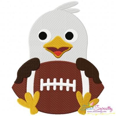 Football Eagle Mascot Embroidery Design
