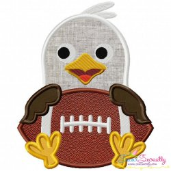 Football Eagle Mascot Applique Design
