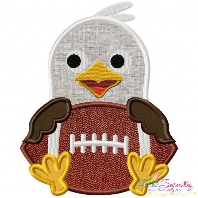 Football Eagle Mascot Applique Design