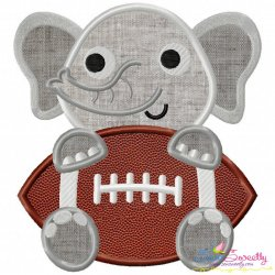 Football Elephant Mascot Applique Design