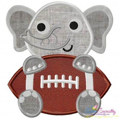 Football Elephant Mascot Applique Design