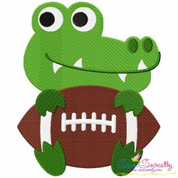 Football Gator Mascot Embroidery Design