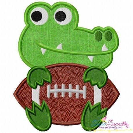 Football Gator Mascot Applique Design