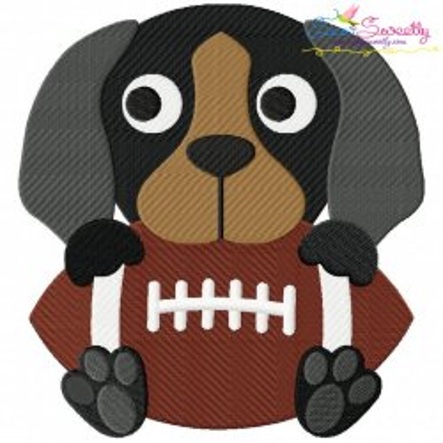 Football Hound Dog Mascot Embroidery Design