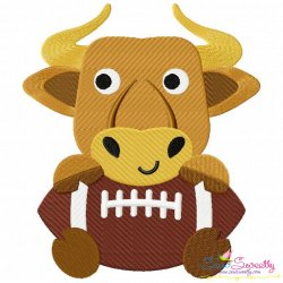 Football Longhorn Mascot Embroidery Design