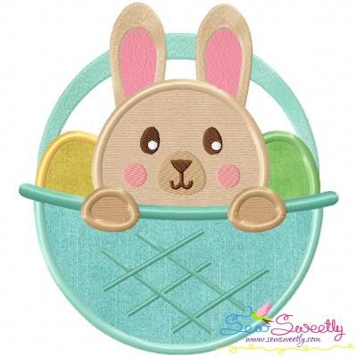 Bunny Basket Applique Design