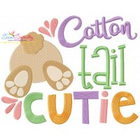 Free Cotton Tail Cutie Embroidery Design