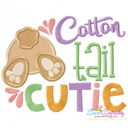 Cotton Tail Cutie Applique Design