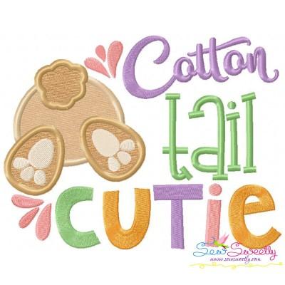 Cotton Tail Cutie Applique Design