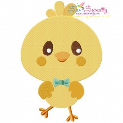 Cute Chick Embroidery Design