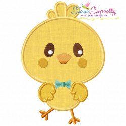 Cute Chick Applique Design