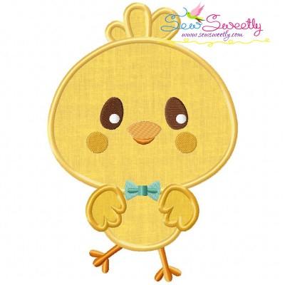 Cute Chick Applique Design