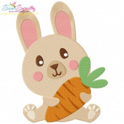 Easter Bunny With Carrot-2 Embroidery Design