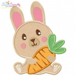 Free Easter Bunny With Carrot-2 Applique Design