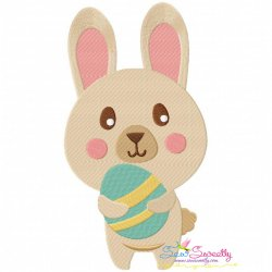Easter Bunny With Egg-3 Embroidery Design