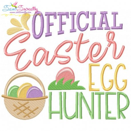 Official Egg Hunter Embroidery Design