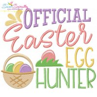 Official Easter Egg Hunter Embroidery Design