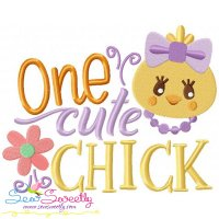One Cute Chick Embroidery Design