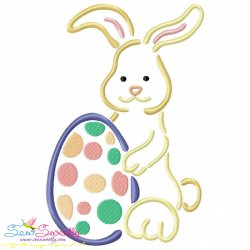 Outlines Bunny Egg-01 Embroidery Design