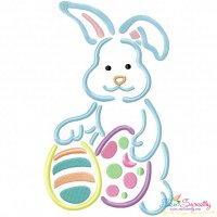Outlines Bunny Eggs-2 Embroidery Design