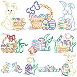 Easter Outlines Designs Embroidery Design Bundle-2