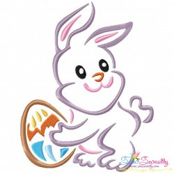 Outlines Bunny Egg-05 Embroidery Design
