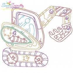 Bean Stitch Construction Truck-1 Embroidery Design
