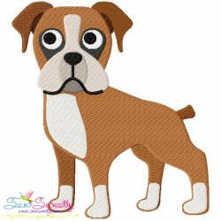 Boxer Dog Embroidery Design