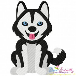 Husky Dog Embroidery Design