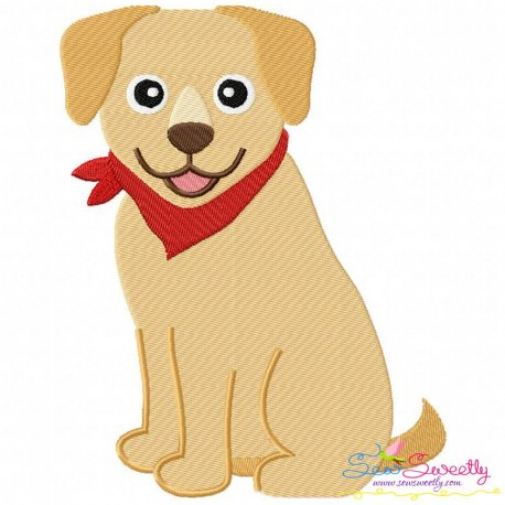 Labrador Dog Embroidery Design