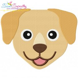 Labrador Dog Head Embroidery Design