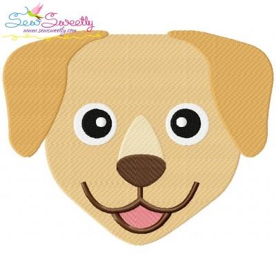 Labrador Dog Head Embroidery Design
