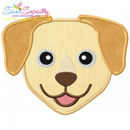 Labrador Dog Head Applique Design