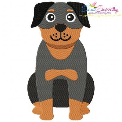 Rottweiler Dog Embroidery Design