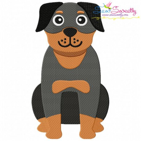 Rottweiler Dog Embroidery Design