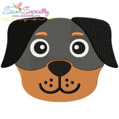 Rottweiler Dog Head Embroidery Design