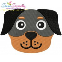 Rottweiler Dog Head Embroidery Design