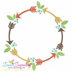 Tribal Frame Embroidery Design