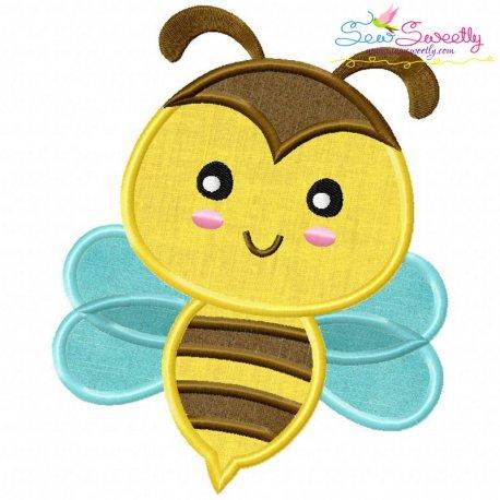 Bee Machine Applique Design