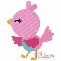 Spring Bird Embroidery Design