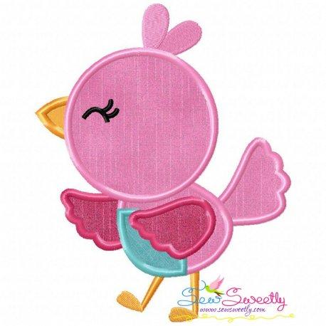 Spring Bird Applique Design