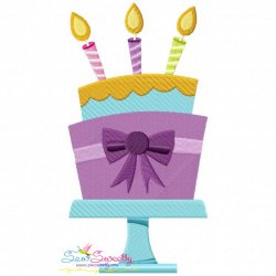 Birthday Cake Embroidery Design